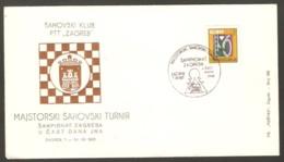 Yugoslavia 1967 Zagreb - Chess Cancel On Commemorative Envelope - Schach