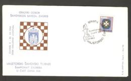 Yugoslavia 1968 Zagreb - Chess Cancel On Commemorative Envelope - Schach