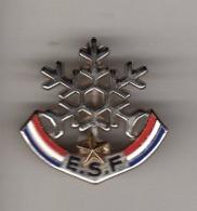 Pin's, Broche  Argent  Sport  SKI  E.S.F  1  étoile  OR  Verso  Fournier - Invierno