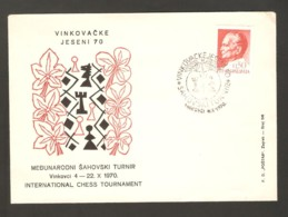 Yugoslavia 1970  Vinkovci - Chess Cancel On Commemorative Envelope, FIRST DAY - Schach