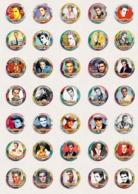 35 X Elvis Presley Music Fan ART BADGE BUTTON PIN SET 11 (1inch/25mm Diameter) - Music