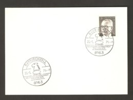 Germany 1975 Bayrischzell - Chess Cancel On Cardboard - Schach