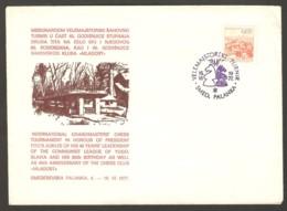 Yugoslavia 1977 Smederevska Palanka - Chess Cancel On Commemorative Envelope - Schach
