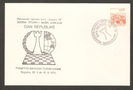 Yugoslavia 1978 Bugojno - Chess Hand Cancel On Card - Scacchi