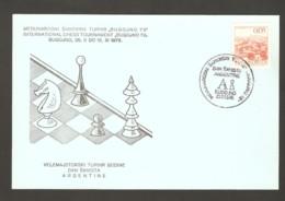 Yugoslavia 1978 Bugojno - Chess Hand Cancel On Card, Argentina Day - Scacchi