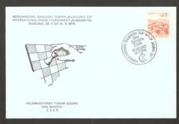 Yugoslavia 1978 Bugojno - Chess Hand Cancel On Card, Czech Day - Scacchi