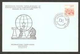 Yugoslavia 1978 Bugojno - Chess Hand Cancel On Card, Dansk Day - Scacchi