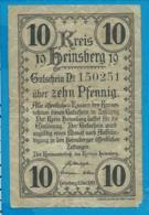 Gutschein    10 Pfennige      Heinsberg   1919 - Collections