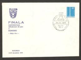 Romania 1979 Bucharest - Chess Cancel On Commemorative Envelope - Scacchi