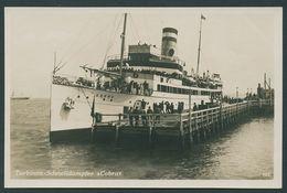 HELGOLAND 1929, BROMSILBER-FOTO-PK, ABB DAMPFER COBRA, VIOL. STPL Des DAMPFERS - Helgoland