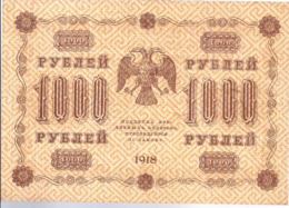 AK-div.29- 157  -  1000   Rubel  1918    AA - 066 - Rusland