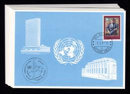 UNO Genf Blaue Karten Jahrgang 1987, Set Nummer 168-178 Komplett - Genf - Büro Der Vereinten Nationen
