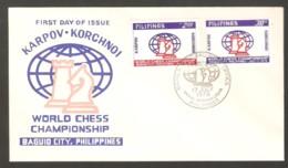 Chess FDC Philippines 1978 Match K-K - Scacchi