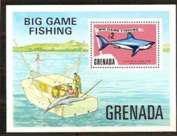 Grenade Grenada 1975 Yvertn° Bloc 36 *** MNH Cote 25 FF Faune Poissons Vissen Fish - Grenade (1974-...)