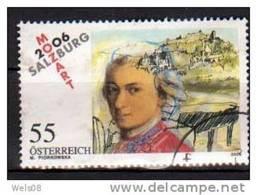"""Österreich 2006:  """"Mozart In Salzburg""""gestempelt (siehe Scan/Foto) - 2001-10 Oblitérés"""