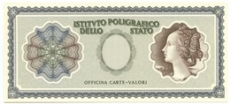 CAMPIONE SPECIMEN TEST ISTITUTO POLIGRAFICO MODELLO ITALIA VERDE DAL 1978 QFDS - [ 7] Errores & Variedades