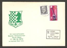 DDR 1970 Buna-Halle - Chess Cancel On Commemorative Envelope - Scacchi