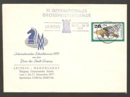 DDR 1977 Leipzig - Chess Cancel On Commemorative Envelope - Scacchi