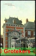 DEN HAAG Stadhouderspoort 1909 TRAM 3, Kleinrondstempel HASSELT Als Aankomst- En Doorzendstempel - Den Haag ('s-Gravenhage)