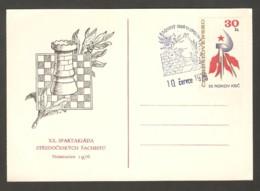 Czechoslovakia 1976 Neratovice - Chess Cancel On Commemorative Envelope - Chess