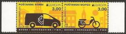 Bosnia Croatia 2013 Europa CEPT, Postal Wehicles, Van Motorcycle, Set In Pair, MNH - 2013