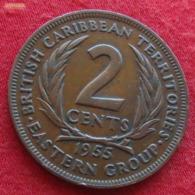 British Caribbean Territories 2 Cents 1955 KM# 3 *V2  Caraibas Caraibes Orientales - Oost-Caribische Staten