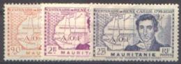 Détail De La Série Centenaire René Caillié ** Mauritanie N° 95 à 97 - 1939 Centenaire De René Caillé