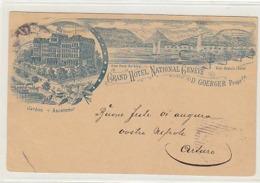 Genève - Grand Hotel National - Entier Postal Illustré Lith. - 1896          (90926) - GE Genève