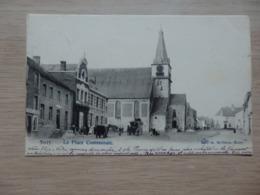 Syvry - La Place Communale - Ed: A. Michaux - Circulé: 1903 - 2 Scans. - Sivry-Rance