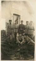PHOTO ORIGINALE  POSTE FRONTIERE FRANCO ALLEMAND AU BOIS DE TILLOT MAISON DE LA DOUANE FORMAT 11 X 6.50 CM - Guerre, Militaire