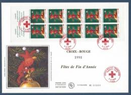 France FDC - Premier Jour - YT N° 3199 - Grand Format - Croix Rouge - Fêtes De Fin D'année - 1998 - FDC