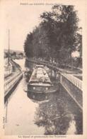 70 - Port-sur-Saône - Le Canal - Beau Cliché D'une Péniche En Promenade Des Touristes - Autres Communes