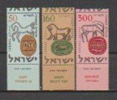 Israel  1957  N° 121 / 123  Neuf XX Avec Tab , Série Compléte  3 Valeurs - Israel
