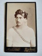 Photo Ancienne CDV - Athlète ? Gymnaste ? Rare Portrait Jeune Sportif Vainqueur -  Photo Arnold Seiler, LIESTAL, Suisse - Sports