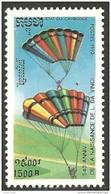 534 Cambodge Parachute Invention Leonard De Vinci Leonardo Da Vinci MNH ** Neuf SC (KAM-253) - Parachutting