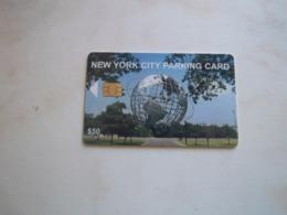 JOLIE CARTE A PUCE PARKING STATIONNEMENT NEW YORK GLOBE TERRESTRE B.E !!! - Etats-Unis