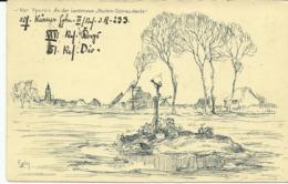 """Vor Ypern An Der Landstrasse """"Roulers-Ostnieuwkerke""""   (2089) - Ieper"""