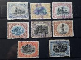 GUATEMALA 1902 - 1907, Monuments Yvert 122 A, 123, 125 / 129 + Indépendance No 137, 8 Timbres Obl TB - Guatemala