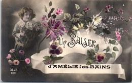 66 AMELIE LES BAINS - Un Baiser, Carte Souvenir. - Other Municipalities