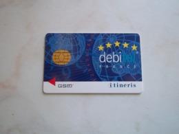 ANCIENNE CARTE GSM SIM DEBITEL ITINERIS T.B.E !!! - France