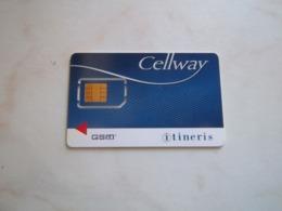 ANCIENNE CARTE GSM SIM CELLWAY ITINERIS T.B.E !!! - France