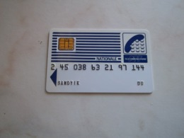 TRES ANCIENNE CARTE A PUCE SCHLUMBERGER PTT TELECOMMUNICATIONS NATIONALE !!! - France