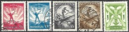 Hungary  1933   5 Diff Airmails To The 1p Used   2016 Scott Value $10 - Airmail