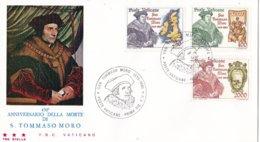 Vaticaan - FDC 07-05-1985 - 450. Todestag Des Hl. Thomas More - M 870-872 - FDC