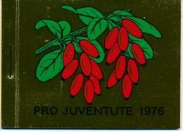 Suisse Carnet C1013 - Pro Juventute 1976 - 7.80 CHF = €7.20 - Baies Sauvage - Markenheftchen