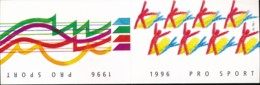 Suisse Carnet C1504 - Pro Sport 1996 – CHF10.00 = €9.20 - Markenheftchen
