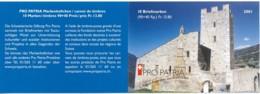 Suisse Carnet C1680 – Pro Patria 2001 – CHF 13.80 = €12.70 - Postzegelboekjes