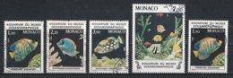 Monaco 1985 : Timbres Yvert Et Tellier N° 1483 - 1484 - 1486 - 1487 Et 1541 Oblitérés. - Gebruikt