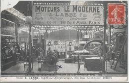 CPA 1316   --PARIS -- Exposition Décénale Salon De L'automobile 1907-Stand Z LABBE --  Animation- - Industry