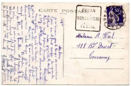 ARDENNES - Dépt N° 08 = SEDAN 1935 = FLAMME  DAGUIN 'SON CHATEAU / FEODAL' - Marcofilia (sobres)